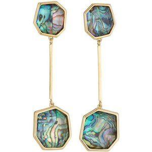 NWOT Lele Sadoughi abalone fossil earrings
